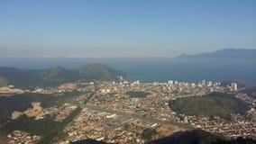 Opinión aérea de Caraguatatuba fotos de archivo libres de regalías