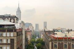 Opinión aérea de centro de Ciudad de México fotografía de archivo