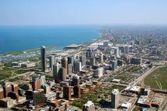 Opinión aérea de Chicago Foto de archivo