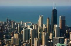 Opinión aérea de Chicago, Hancock c Fotografía de archivo