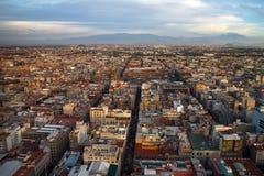Opinión aérea de Ciudad de México Fotos de archivo libres de regalías