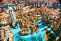 Opinión aérea de Dubai foto de archivo