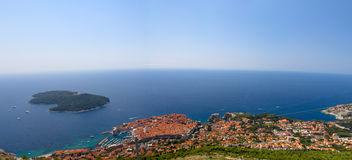 Opinión aérea de Dubrovnik Fotografía de archivo