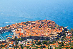 Opinión aérea de Dubrovnik Imagenes de archivo