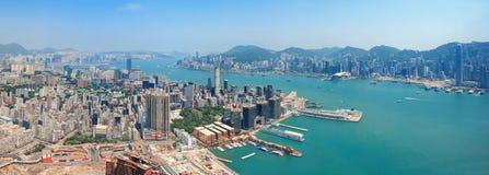 Opinión aérea de Hong-Kong Imágenes de archivo libres de regalías