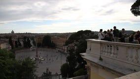 Opinión aérea de Italia Roma almacen de metraje de vídeo
