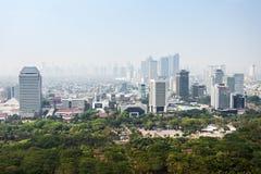 Opinión aérea de Jakarta Imagenes de archivo