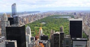 opinión aérea de 4K UltraHD de Midtown Manhattan y del Central Park
