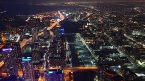 opinión aérea de 4K UltraHD Timelapse de Toronto en la noche almacen de metraje de vídeo