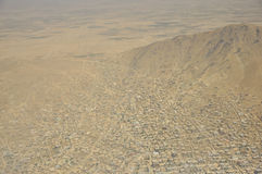 Opinión aérea de Kabul, Afganistán Fotografía de archivo