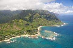 Opinión aérea de Kauai Imagen de archivo