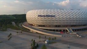 Opinión aérea de la arena de Allianz del abejón metrajes