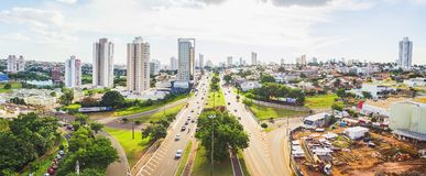Opinión aérea de la avenida de Afonso Pena fotografía de archivo libre de regalías