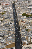 Opinión aérea de la calle de París Imagen de archivo