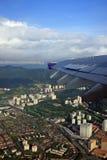 Opinión aérea de la ciudad imagen de archivo libre de regalías