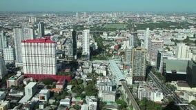 Opinión aérea de la ciudad de Bangkok metrajes