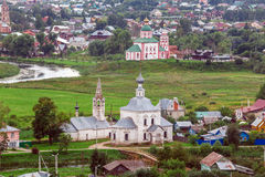 Opinión aérea de la ciudad de Suzdal Fotos de archivo libres de regalías