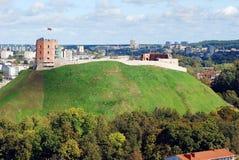 Opinión aérea de la ciudad de Vilna de la torre de la universidad de Vilna foto de archivo