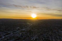 Opinión aérea de la ciudad del templo, área de la puesta del sol de la Arcadia fotografía de archivo