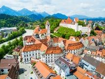 Opinión aérea de la ciudad de Fussen Fotos de archivo