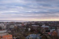 Opinión aérea de la ciudad de Liepaja, Letonia Fotografía de archivo libre de regalías
