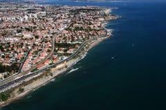 Opinión aérea de la costa costa Fotografía de archivo libre de regalías