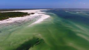 Opinión aérea de la costa de Zanzíbar sobre el océano Fotografía de archivo libre de regalías