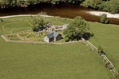 Opinión aérea de la granja. Imagen de archivo libre de regalías