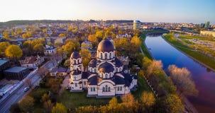 Opinión aérea de la iglesia de Vilna fotografía de archivo libre de regalías
