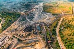 Opinión aérea de la mina Imágenes de archivo libres de regalías