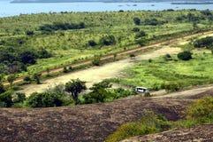 Opinión aérea de la orilla de Caroni, Venezuela Suramérica Fotos de archivo