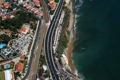 Opinión aérea de la playa Imagen de archivo