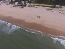 Opinión aérea de la playa Fotos de archivo