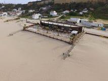 Opinión aérea de la playa Foto de archivo libre de regalías