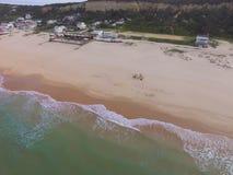 Opinión aérea de la playa Foto de archivo
