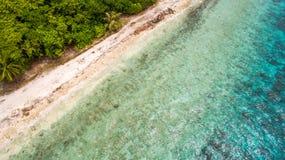 Opinión aérea de la playa Fotos de archivo libres de regalías