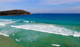 Opinión aérea de la playa chillona, promontorio de Wilsons Foto de archivo libre de regalías