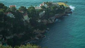 Opinión aérea de la playa de Mónaco metrajes