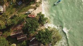 Opinión aérea de la playa Koh Phangan almacen de metraje de vídeo