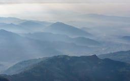 Opinión aérea de la región de Pokhara Imágenes de archivo libres de regalías