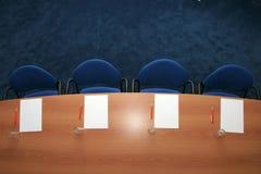 Opinión aérea de la sala de conferencias Foto de archivo