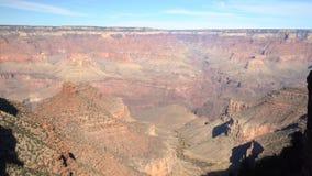 Opinión aérea de la tarde del parque nacional hermoso de Grand Canyon de Mather Point del borde del sur almacen de metraje de vídeo