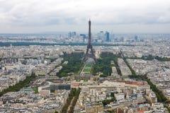 Opinión aérea de la torre Eiffel Imágenes de archivo libres de regalías