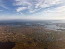 Opinión aérea de la tundra Fotos de archivo