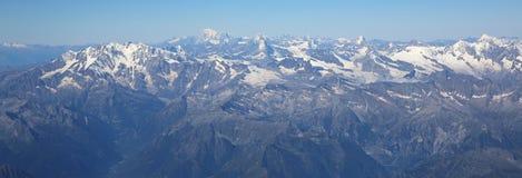Opinión aérea de las montañas Imagen de archivo