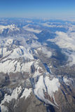 Opinión aérea de las montañas Imágenes de archivo libres de regalías