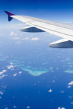 Opinión aérea de Maldivas Imagen de archivo libre de regalías