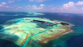 Opinión aérea de Maldivas Fotos de archivo