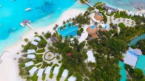 Opinión aérea de Maldivas Foto de archivo libre de regalías