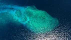 Opinión aérea de Maldivas Imagen de archivo